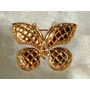 Lindo Broche Vintage Borboleta Strass Cristais,itália,déc80