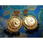 Lindos Brincos Vintage Dourados Figura Egípcia/cristaisdéc80