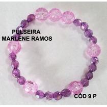 Pulseira Artesanal Rosa E Lilás Cod 9 P
