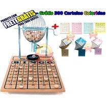 Bingo Completo Globo Nº1 + 300 Cartelas Coloridas + Frete C