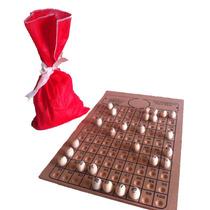 Tabuleiro+bolas P/bingo Nº 3 Com Saco P/sorteio (100 Pedras)