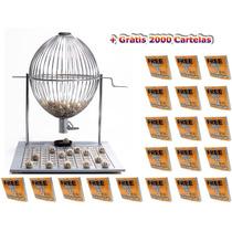 Jogo Bingo Globo Cromado Nº3 +2000 Cartelas Grátis