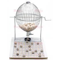 Vispora Nº3 100 Bolas Bingo Profissional Grande Cromado