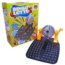 Jogo De Bingo Mini Globo À Manivela 48 Cartelas 90 Bolas Dm