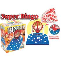 Jogo De Bingo Completo Globo Com 90 Bolinhas + 48 Cartelas