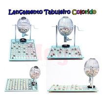 Bingo 75 Bolas Globo Nº1 Cromado Tabul Verde +300 Cartelas