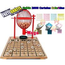Bingo Completo Globo Nº1 + 2000 Cartelas Coloridas +frete V