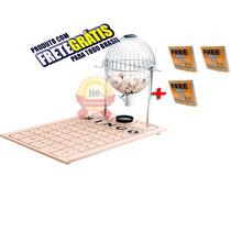 Bingo Completo Globo Nº2 Cromado + 300 Cartelas +frete