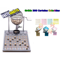 Bingo Completo Globo Nº1 + 300 Cartelas Coloridas + Frete Z