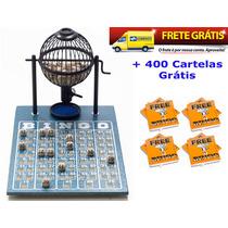 Jogo De Bingo 75 Bolas Pequeno Nº1 Com 400 Cartelas Ipf