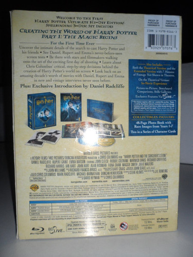 Blu-ray - Harry Potter E A Pedra Filosofal Ultimate Edition