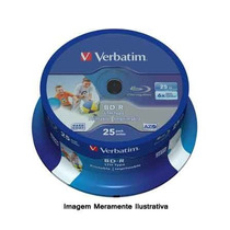 10 Mídias Blue Ray Virgens Verbatim Bd-r 25gb Printable.