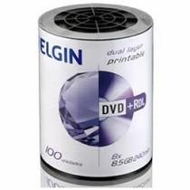 Dvd+r Dl Elgin (umedisc) 8.5gb 8x Printable - 100 Un Shrink