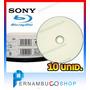 10 Unid. Mídia Bluray Sony Bd 25gb Recife Olinda Pernambuco