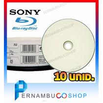 10 Bluray Sony Mídia Virgem - 25gb Printable - Imprimível Bd