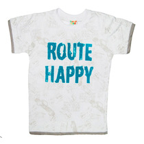 Camiseta Branca Manga Curta Route Happy - Have Fun