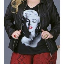 Blusa Mrs. Monroe Plus Size Viscostretch Silkada Tamanho 52