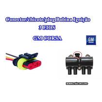 Conector/chicote/plug Bobina Ignição 3 Fios Gm Corsa