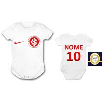 Body Internacional Time Colorado Inter Bebê Vermelho Bebe