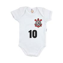 Body Infantil Personalizado Time Bebê Corinthians Futebol