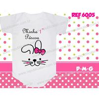 Body Bebê Camiseta Páscoa Coelhinho Coelho Frete Grátis
