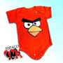 Body P/ Bebê Angry Birds Vermelho