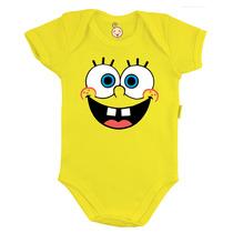 Body Infantil Personalizado Bebê Bob Esponja E Patrick Baby