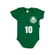 Body Infantil Personalizado Time Bebê Palmeiras Futebol