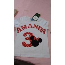 Blusa Personalizadas Com Nome, Número E Desenho.