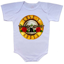 Body E Camiseta Infantil Estampas Guns N