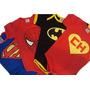 Body Infantil - Super Heróis Lote De 6 Peças