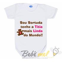 Body Com Frase Madrinha - Body De Titia