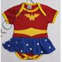 Body Fantasia Mulher Maravilha Para Bebês