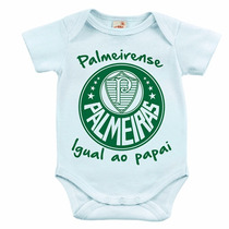 Body Infantil - Palmeirense Igual Ao Papai/mamãe
