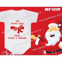 Body Infantil Meu Primeiro Natal Bebê Papai Noel Papai Mamãe