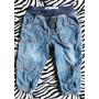Calça Jeans Menino Bebe 6-9 Meses Elastico No Cos Baby Club
