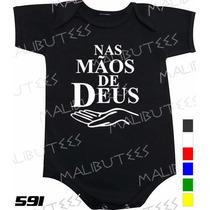Body Evangélico Gospel Nas Mãos De Deus Infantil Bebê