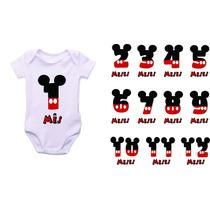 Body Infantil Personalizado Mickey Minnie Mesversario