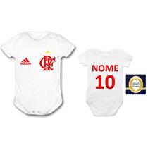 Body Infantil Time Flamengo Roupa De Bebe Personalizada Baby