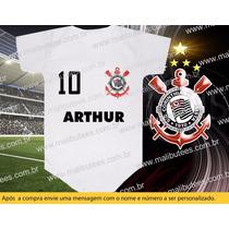 Body Corinthians Timão Futebol Body Camiseta Personalizado