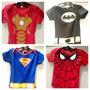 Body Baby Heróis Aranha Batman Homem De Ferro Superman