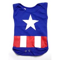 Body Capitão América (heróis) - Estampado - 100% Algodão
