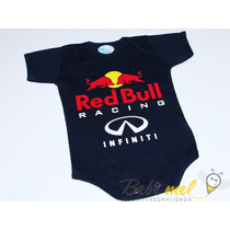 Body De Bebê Fórmula 1 Red Bull Roupa Bebê Red Bull Racing