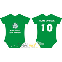 Roupa De Time Para Bebê Personalizada - Palmeiras