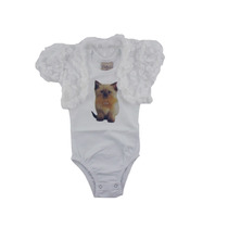 Body Bebê C/bolero Renda Tam.01,02,03 Frete Grátis Kidins