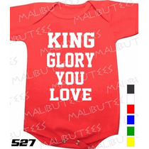 Body Evangélico Gospel King Glory You Love Infantil Bebê