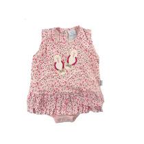 Body Vestido Bebê Floral Tam.p,m,g Piu-piu Com Frete Grátis