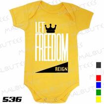 Body Evangélico Gospel Let Freedom Infantil Bebê Promoção