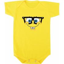 Body De Bebê Ou Camiseta Infantil Do Bob Esponja Com Oculos