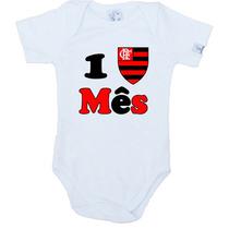 Kit Mêsversário Flamengo 12 Pç Body 100% Algodão Mv028